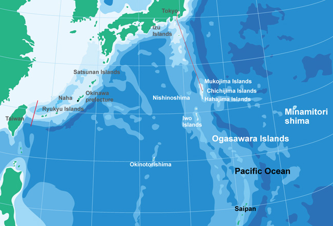 map of Ogasawara islands